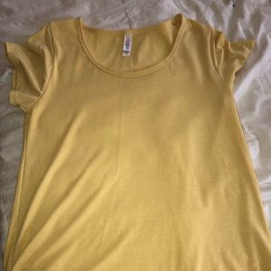 Yellow classic tee size S
